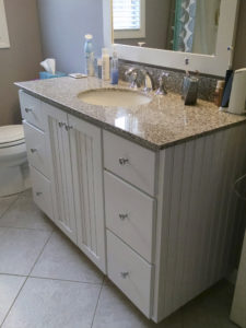 Wheat Granite Vanity top. This vanity cabinet is a larger vanity (additional charge)