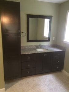 Cabinetry which replaced whirlpool tub and small vanity