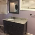 all our bathrooms feature custom cabinetry
