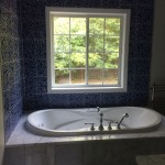 the window over the tub was added