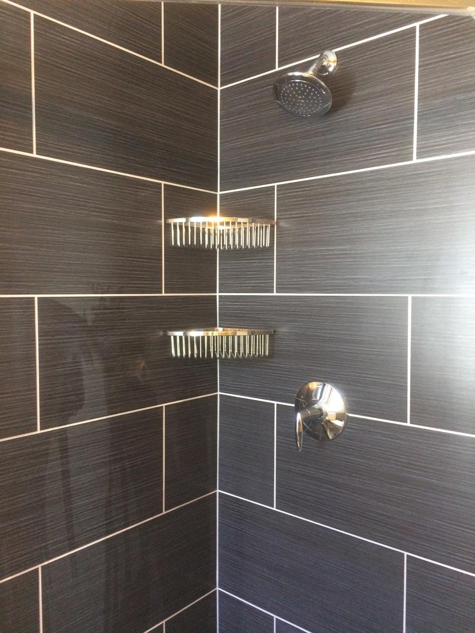 36″ Custom Tiled Corner Shower | NH Bath Builders