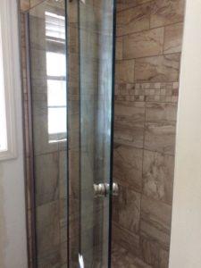 custom Tile Shower with Glass Door