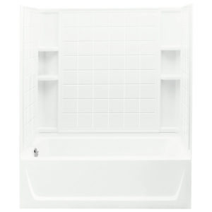 Sterling Ensemble Tub/Shower with Tile Pattern