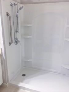 NHBB recent job shower replacement with DIY discount